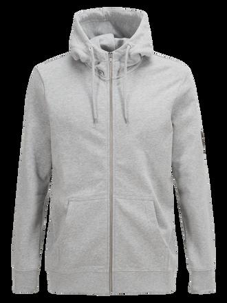 Men's Original Zipped Hood Med Grey Mel | Peak Performance
