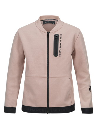 Kids Tech Zipped Jacket Softer Pink | Peak Performance