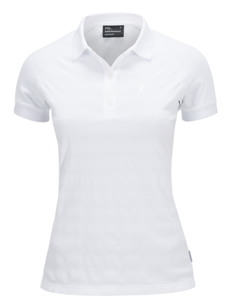 Women's Golf Technical Striped Polo White | Peak Performance