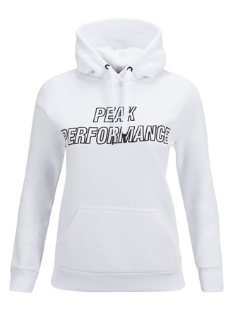 Women's Hooded Sweater White | Peak Performance
