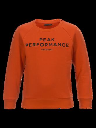 Kids Logo Crew neck Orange Lava | Peak Performance