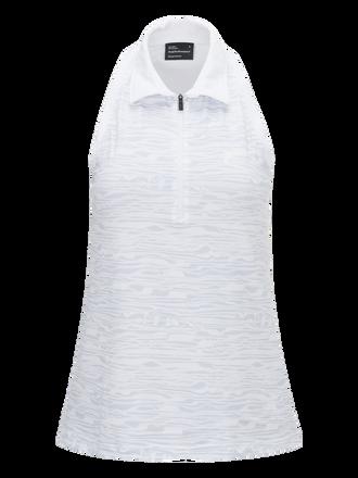 Women's Golf Printed Half-Zipped Sleeveless Top
