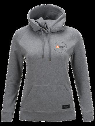 Women's Freeride World Tour Hooded Sweater Grey melange | Peak Performance