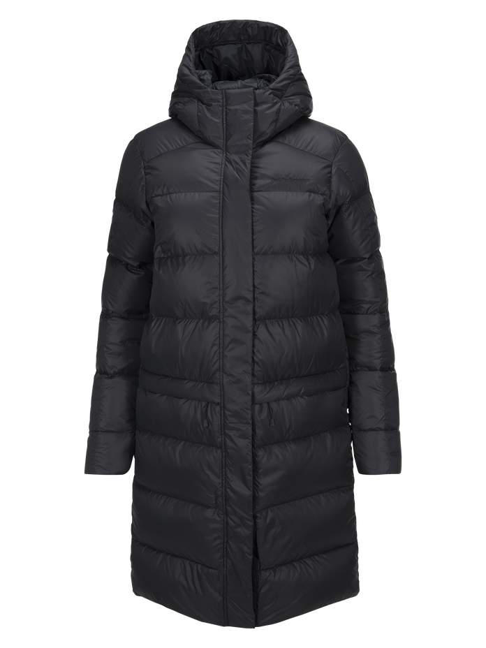 Women's Frost Down Coat Black | Peak Performance