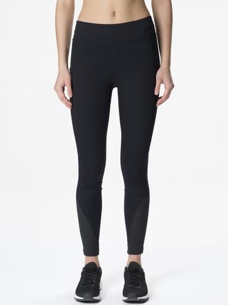 Women's Block Running Tights Black | Peak Performance