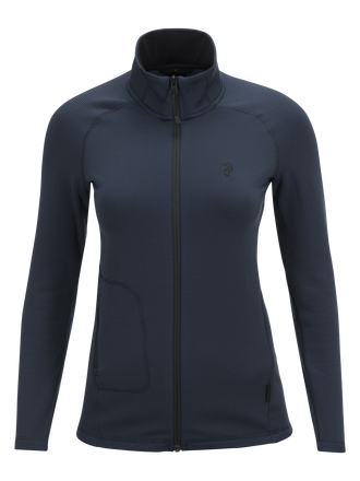 Women's Waitara Zipped Mid-Layer Salute Blue | Peak Performance