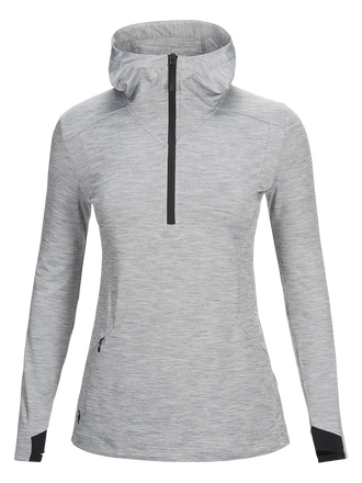 Women's Civil Hooded Mid Jacket Med Grey Mel | Peak Performance