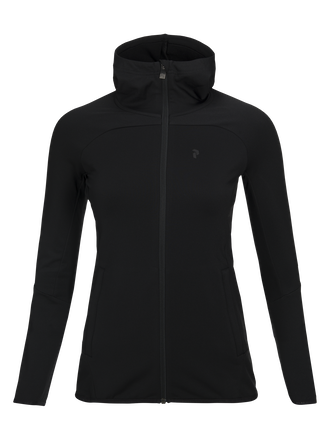 Women's Ace Hooded Zipped Mid-Layer Black | Peak Performance