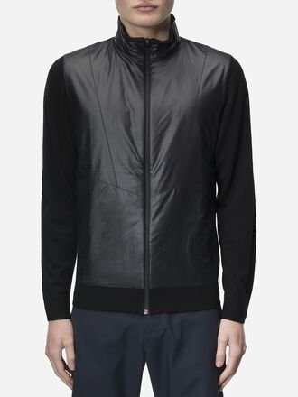 Men's Golf Sanford Zipped Jacket Black | Peak Performance