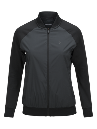 Women's Axior Wind Mid Golf Jacket Black | Peak Performance