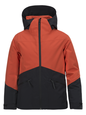 Blouson de ski enfant Greyhawk Orange Planet | Peak Performance