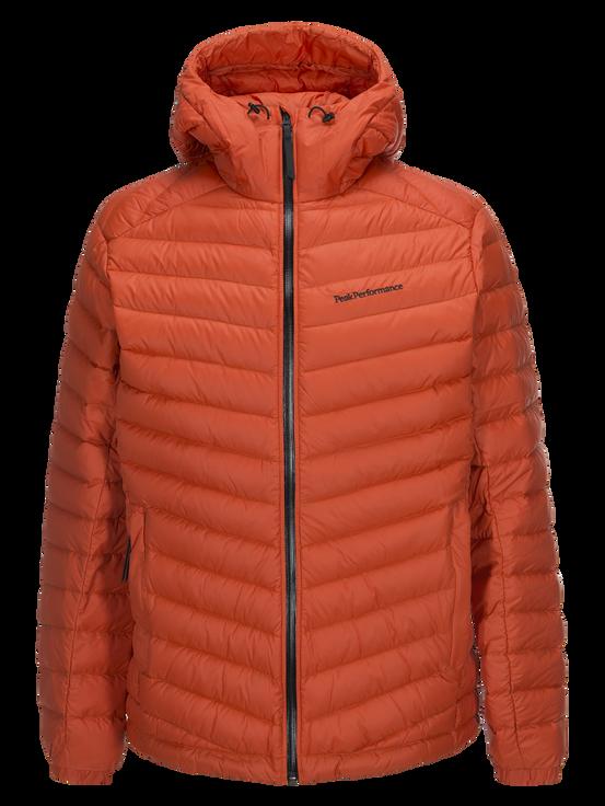 Frost dunjacka med huva för herrar Orange Lava   Peak Performance