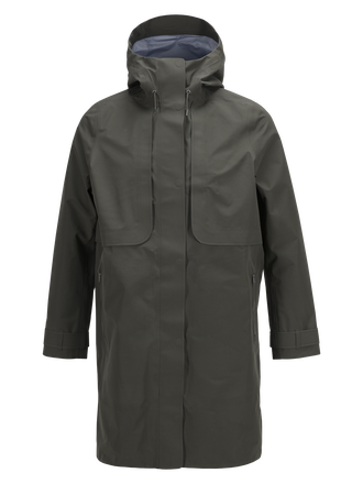 Damen Mist Mantel Black Olive | Peak Performance