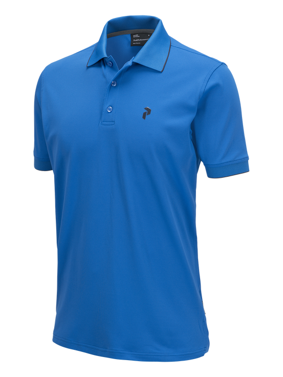 Herren Golf Technical Poloshirt English Blue | Peak Performance