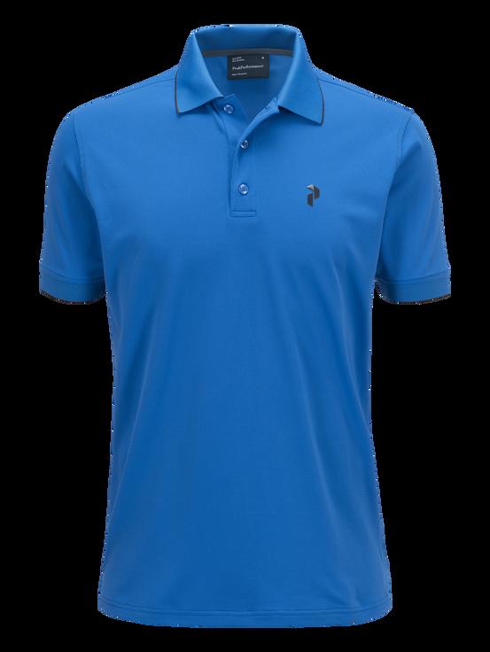 Polo de golf en piqué pour hommes English Blue | Peak Performance