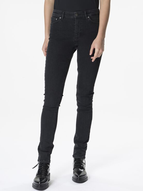 Women's Awa Jeans Black Stone Wash | Peak Performance