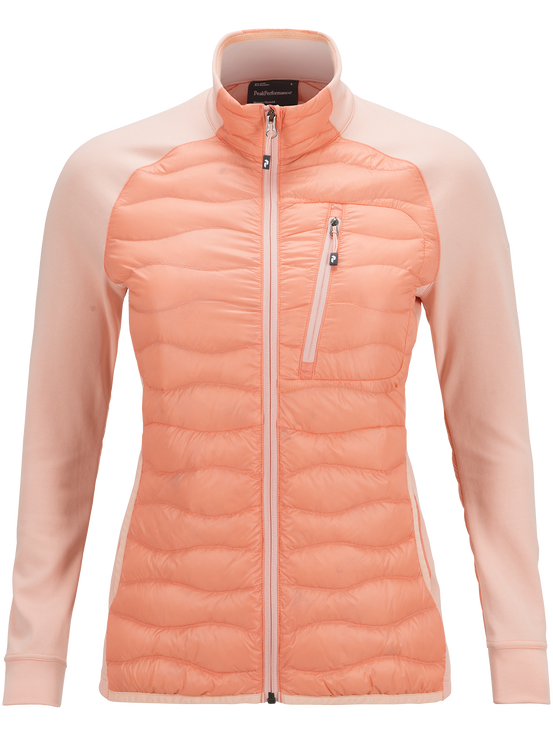 Women's Helium Hybrid Jacket Coral Kick | Peak Performance