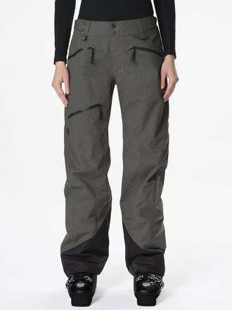 Women's Melange Teton Shell Ski Pants Black Olive | Peak Performance