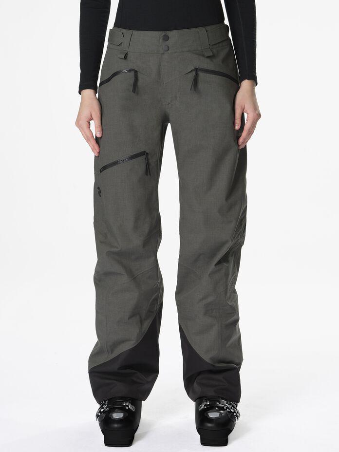 Women's Melange Teton Shell Ski Pants Black Olive | Peak Performance