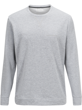 Herren Structure Rundhalstop Med Grey Mel | Peak Performance