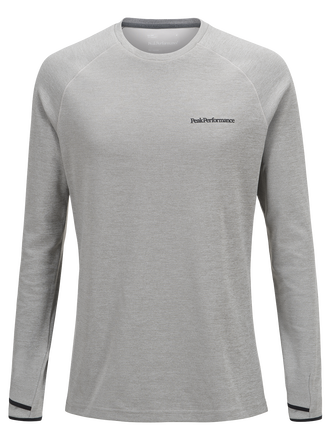 Men's Power Crew neck Med Grey Mel | Peak Performance