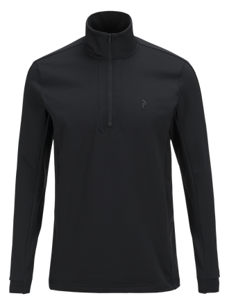 Men's Ace Half Zipped Golf Jersey Black | Peak Performance
