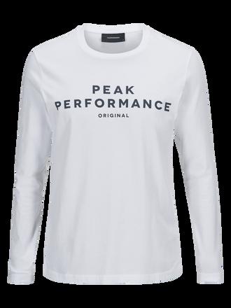 Men's Logo long-sleeved Jersey White | Peak Performance