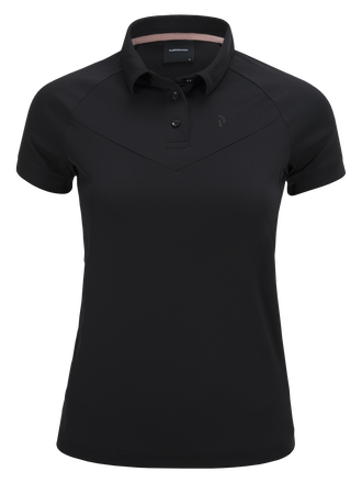 Damen Versec Golf Poloshirt Black | Peak Performance