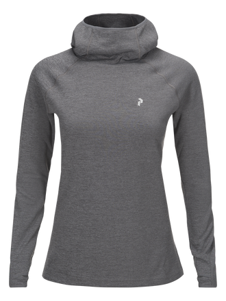 Women's Hooded Power Jersey Grey melange | Peak Performance