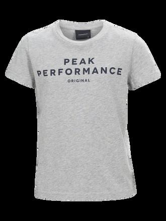 Kids Short-sleeved T-shirt Med Grey Mel | Peak Performance