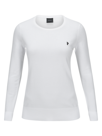 Women's Golf Classic Crew neck White | Peak Performance