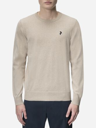 Men's Golf Classic Crew neck Slow Beige | Peak Performance