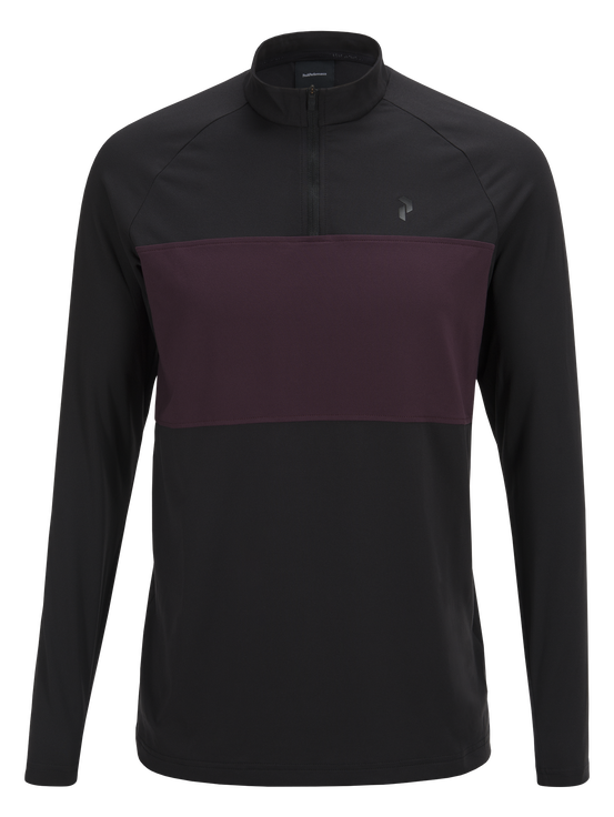 Men's Base-Layer Golf  Top Black | Peak Performance