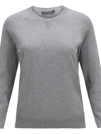Women's Tess Crew neck Grey melange | Peak Performance