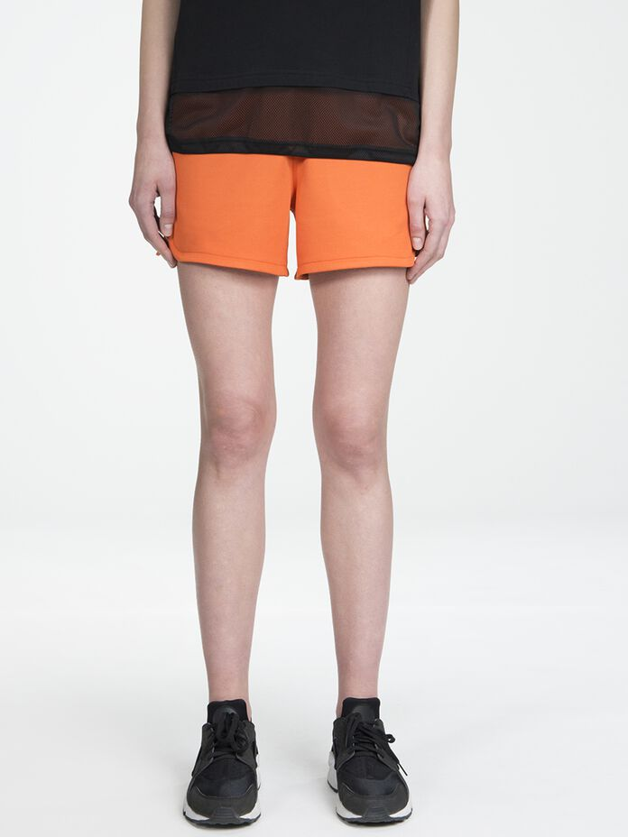 Women's Tech Club Shorts Orange Flow | Peak Performance