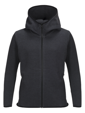 Kids Tech Zipped Hooded Jacket  Dk Grey Mel | Peak Performance