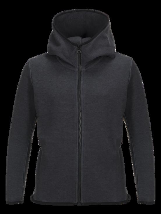 Kids Tech Zipped Hooded Jacket  Dk Grey Mel | Peak Performance