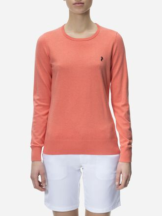 Women's Golf Classic Crew neck Digital Pink | Peak Performance