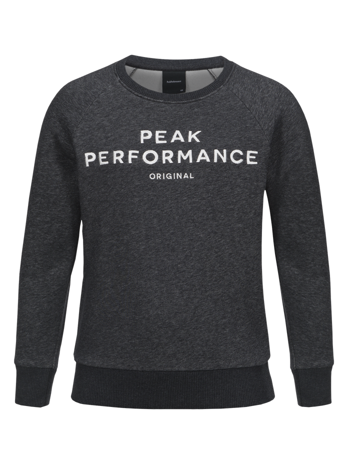 Kids Logo Crew neck Dk Grey Mel | Peak Performance