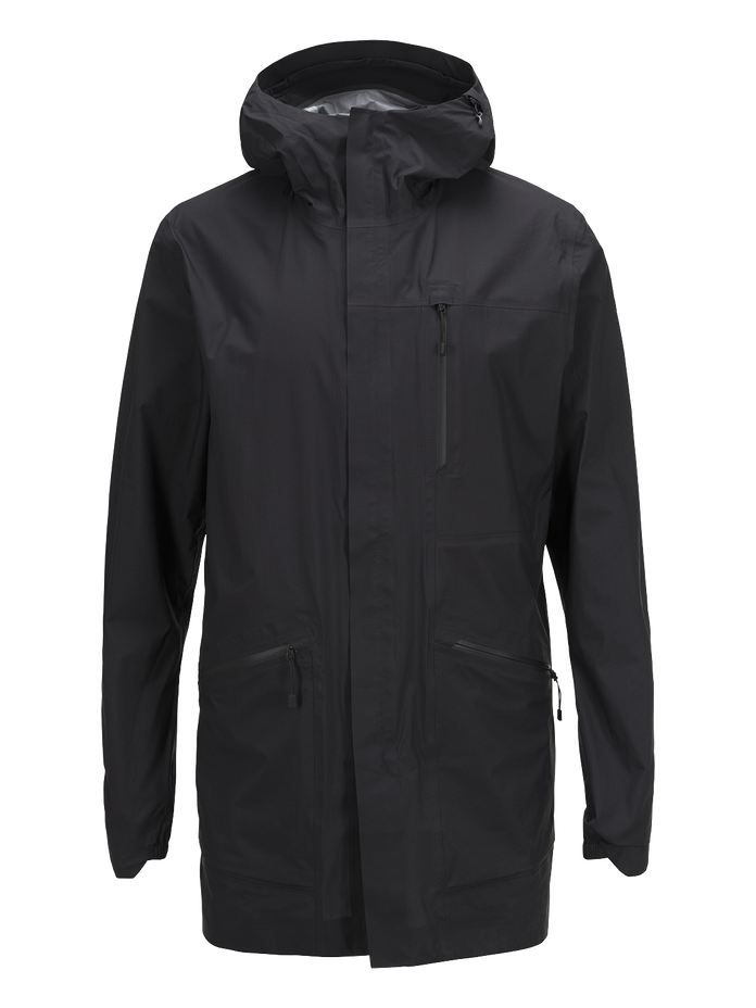 Herren Civil Light Parka Black | Peak Performance