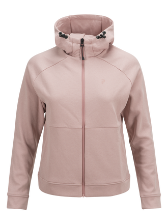 Women's Pulse Hooded Zipped Mid-Layer Dusty Roses | Peak Performance