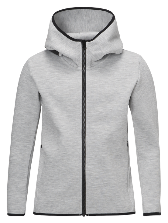 Kids Tech Zipped Hooded Jacket Med Grey Mel | Peak Performance