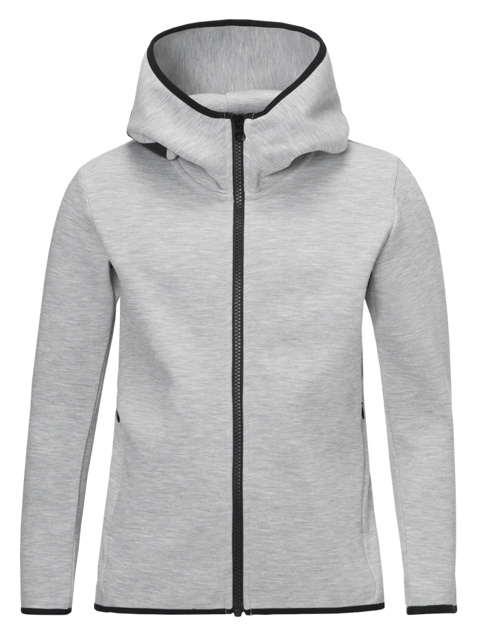 Sweat zippé à capuche enfant Tech Med Grey Mel | Peak Performance