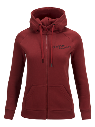 Women's Logo Zipped Hood Dusty Wine | Peak Performance