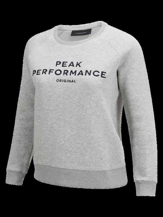 Women's Logo Crew neck Med Grey Mel | Peak Performance
