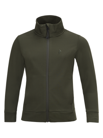 Kids Ace Zipped Mid-Layer Forest Night | Peak Performance