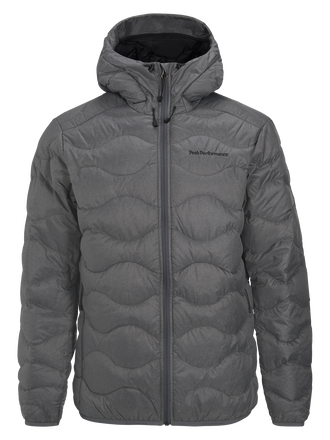 Men's Helium Melange Hooded Jacket Grey melange | Peak Performance