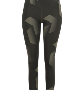 Women's Printed Cropped Running Tights