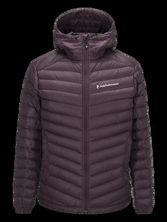 Men's Frost Down Hooded Jacket Mahogany | Peak Performance