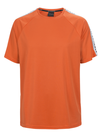 Men's Tech Club T-shirt Orange Flow | Peak Performance